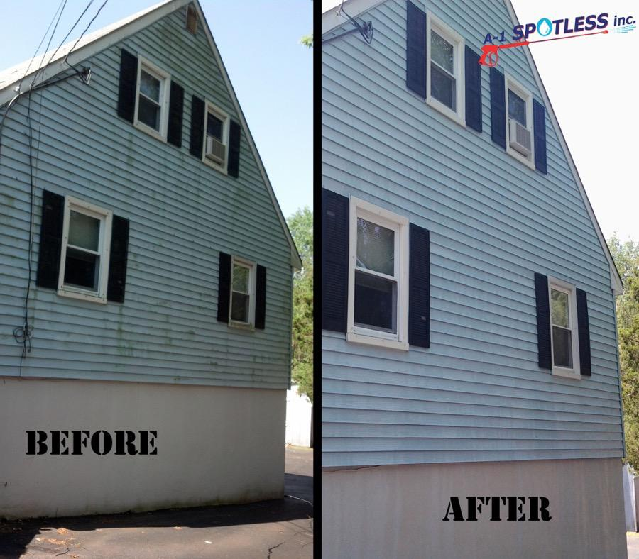 Power Wash Cleaning Vinyl Siding NJ Middlesex Somerset Union A 1 Spotless Inc