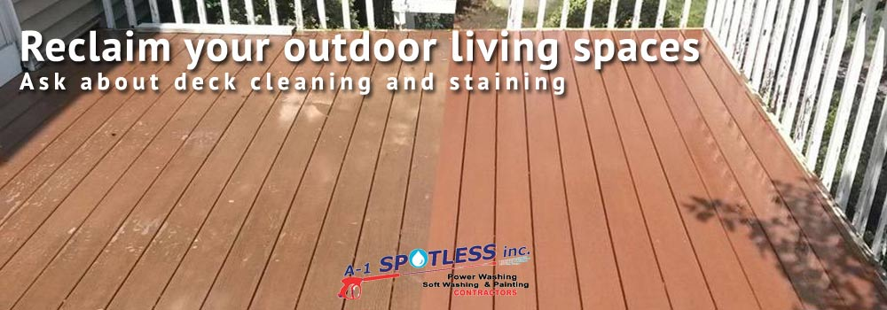 Deck Cleaning & Staining - A-1 Spotless Inc.
