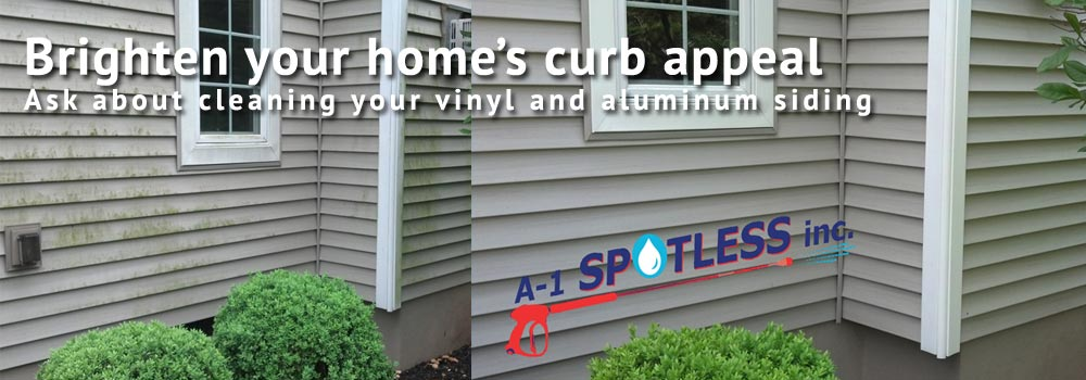 Vinyl Siding Aluminum Siding Cleaning - A-1 Spotless Inc.